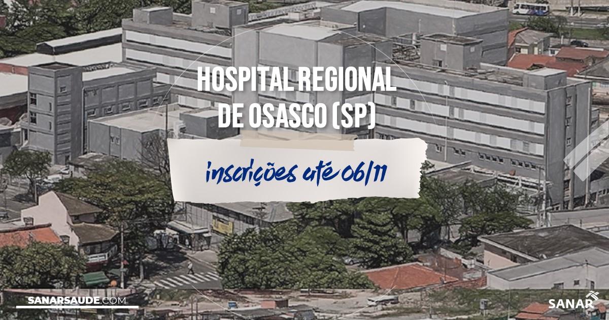 Concurso do Hospital Regional de Osasco - SP: na Saúde, vagas para médicos!