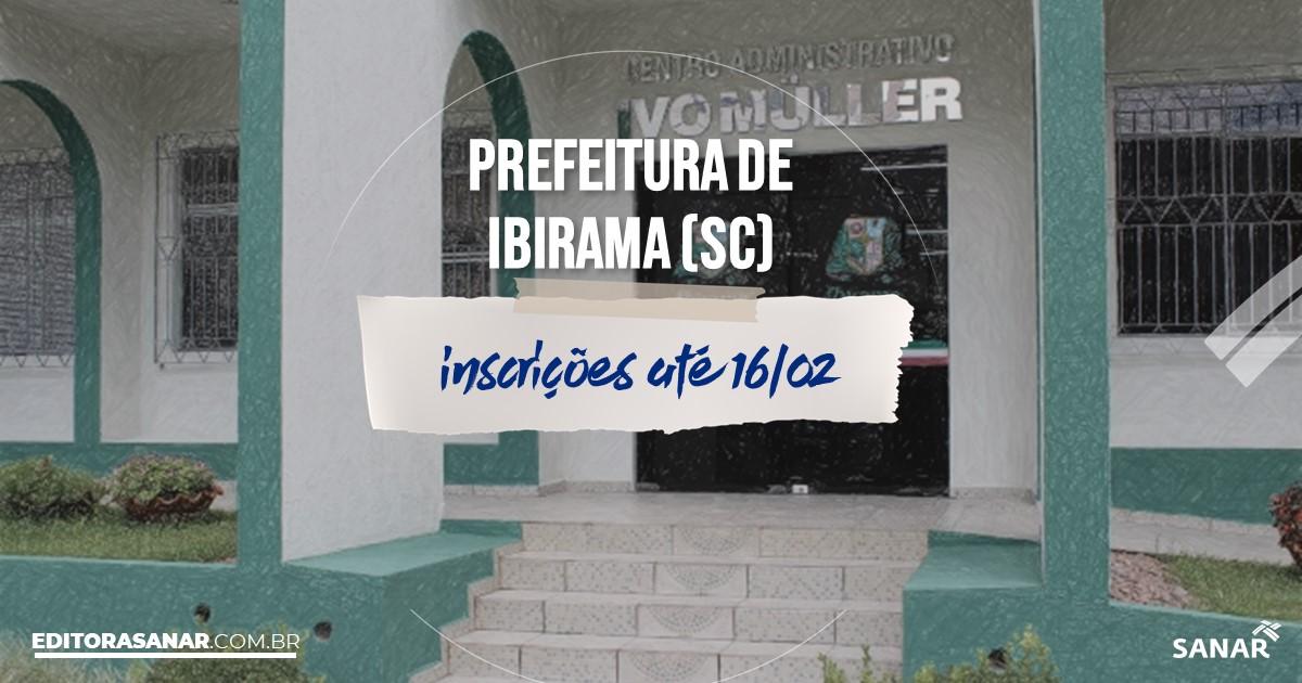 Concurso de Ibirama - SC: vagas na Saúde para psicólogos!