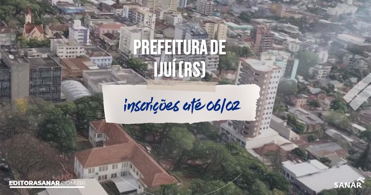 Concurso de Ijuí - RS: remunerações de até R$14 mil na Saúde!