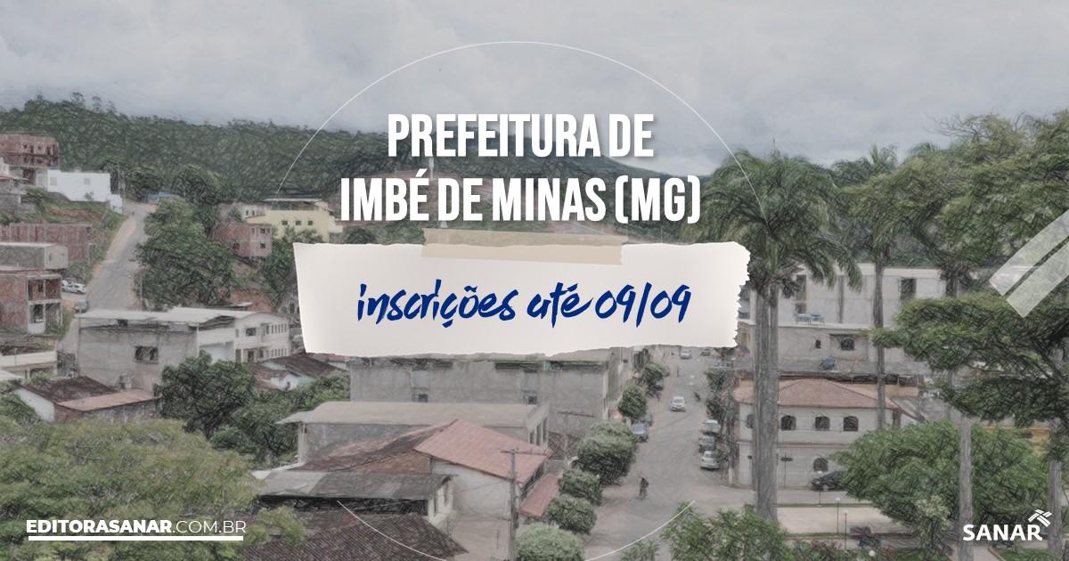 Concurso de Imbé de Minas - MG: vagas imediatas na Saúde!