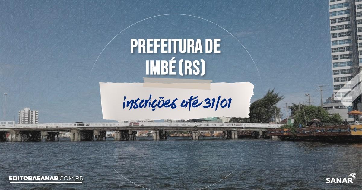 Concurso de Imbé - RS: vagas na Saúde!