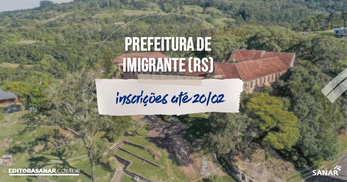 Concurso de Imigrante - RS: vagas na Saúde para nutricionistas!