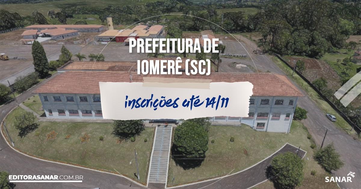 Concurso de Iomerê - SC: na Saúde, salários até R$5 mil!
