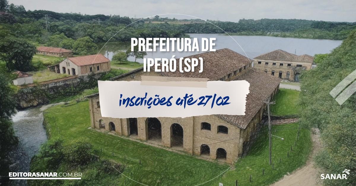 Concurso de Iperó - SP: vagas imediatas na Saúde!