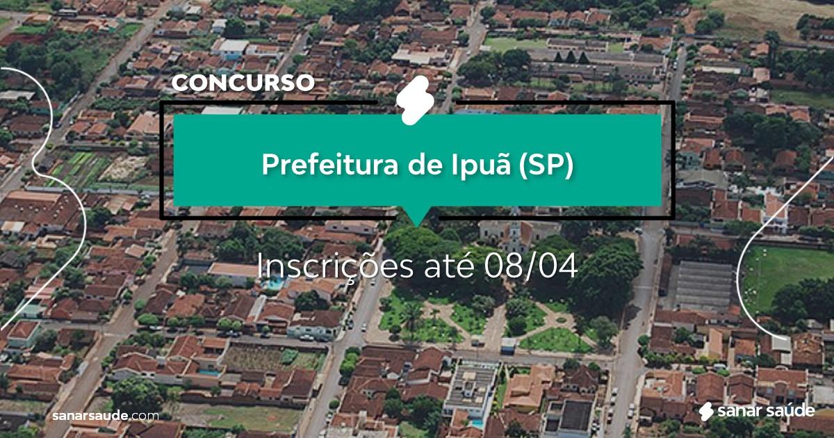 Concurso de Ipuã - SP:  vaga na Saúde para psicólogo!
