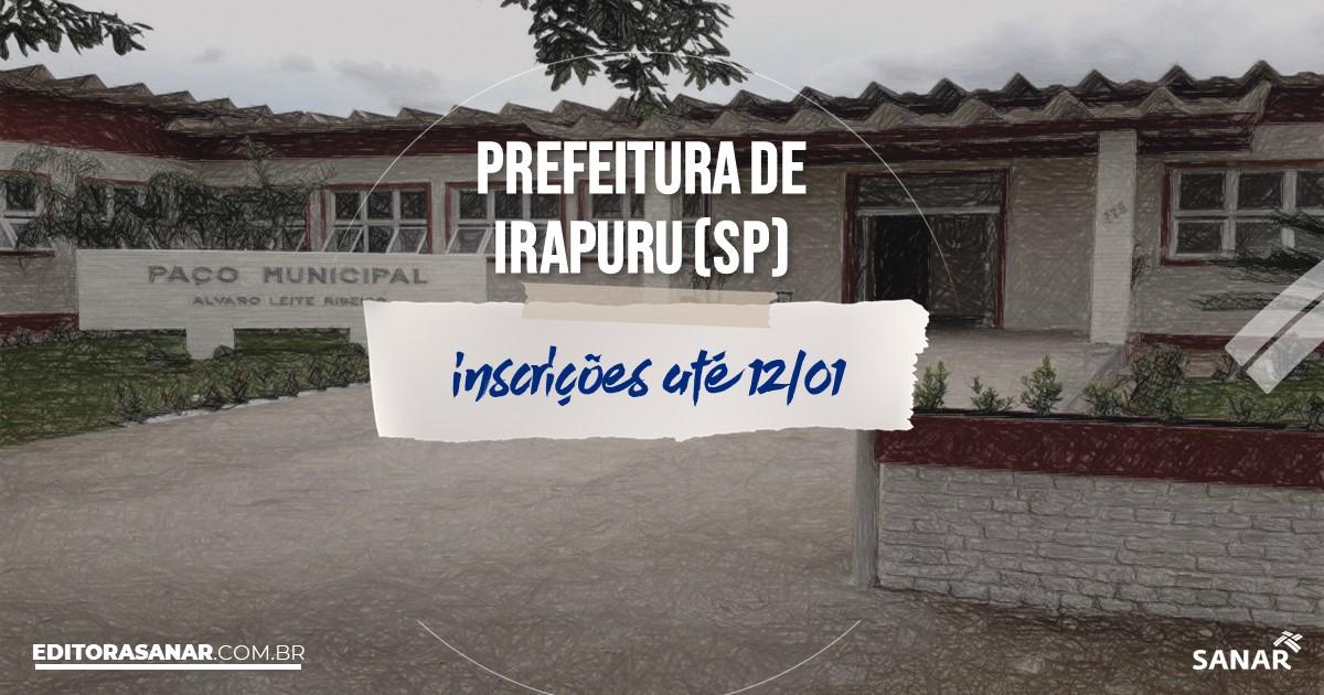 Concurso de Irapuru - SP: vagas na Saúde!