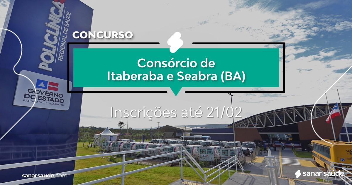 Concurso de Itaberaba e Seabra - BA: vagas imediatas na Saúde!