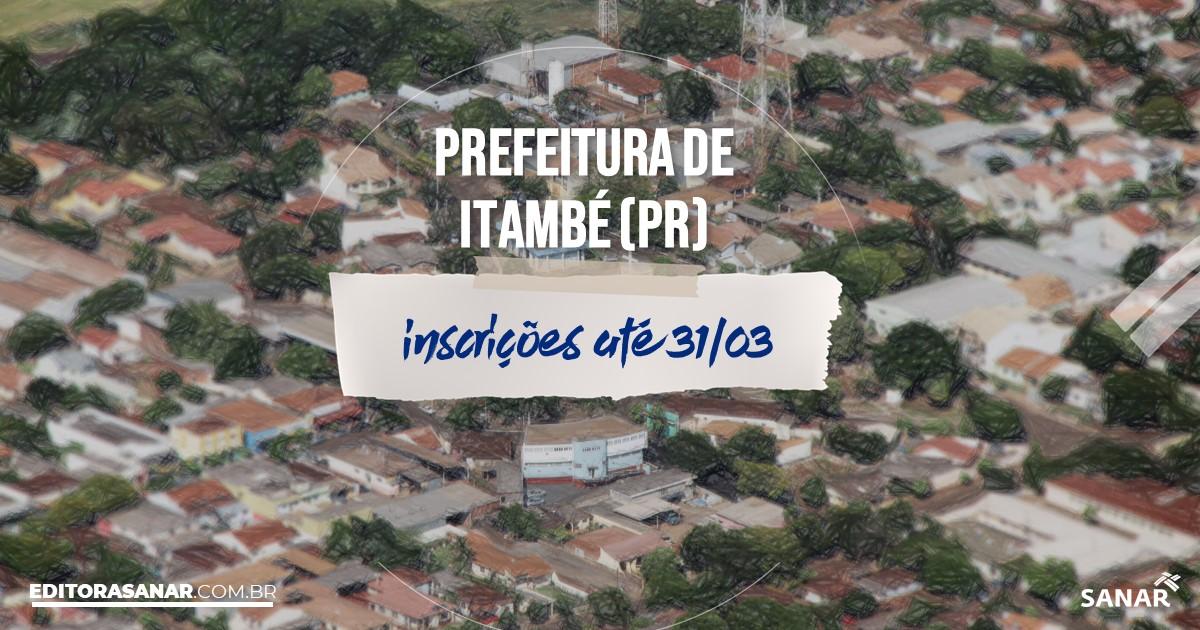 Concurso de Itambé - PR: salários de até R$7,2 mil na Saúde!