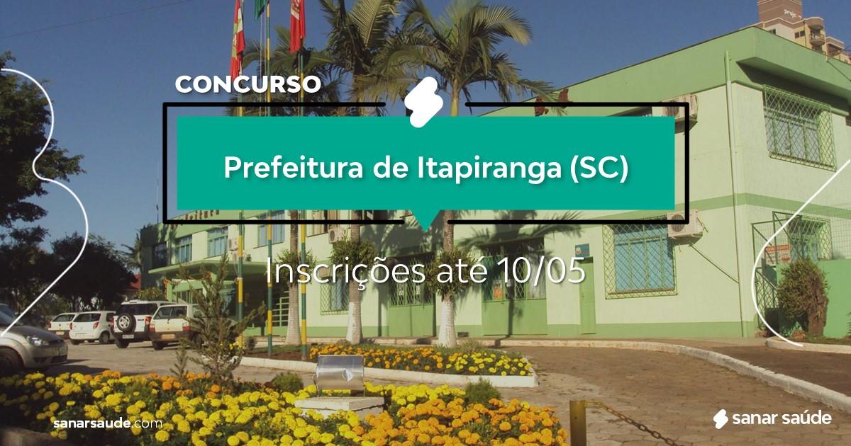 Concurso de Itapiranga - SC: salários até R$20 mil na Saúde!
