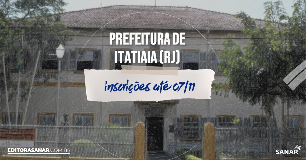 Concurso de Itatiaia - RJ: vagas imediatas na Saúde!