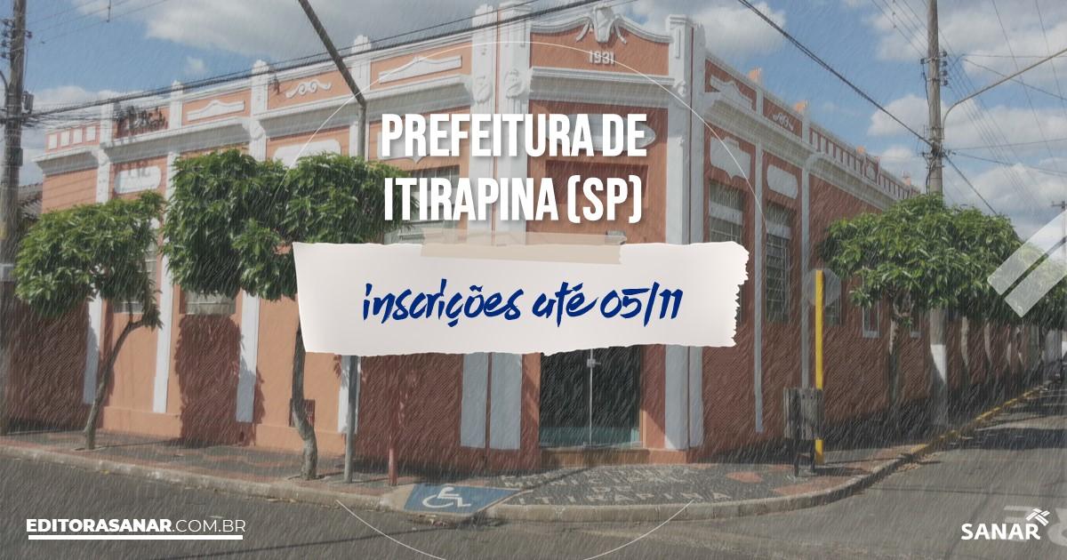 Concurso de Itirapina - SP: cargos na Saúde!