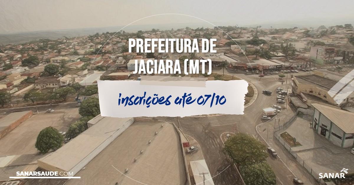 Concurso de Jaciara - MT: vagas imediatas na Saúde!