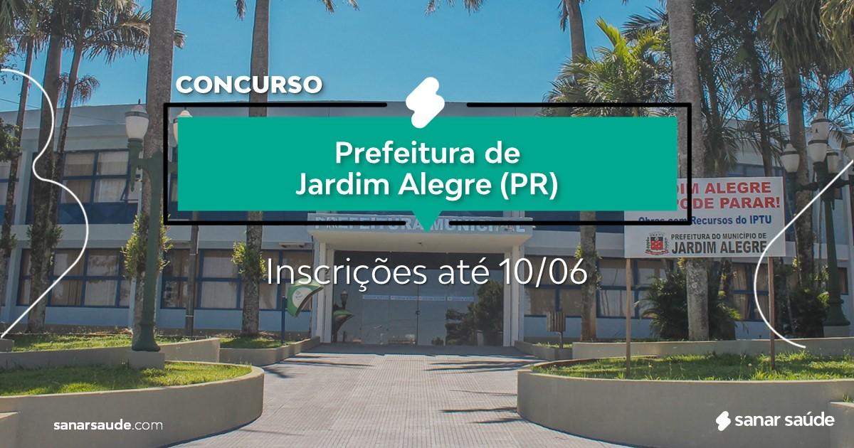 Concurso de Jardim Alegre - PR:  vagas na Saúde para médicos!