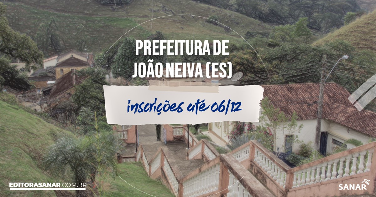 Concurso de João Neiva - ES: salários na Saúde de até R$9 mil!