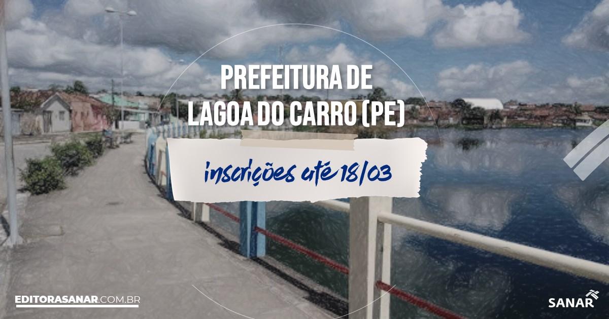 Concurso de Lagoa do Carro - PE: vagas na Saúde!