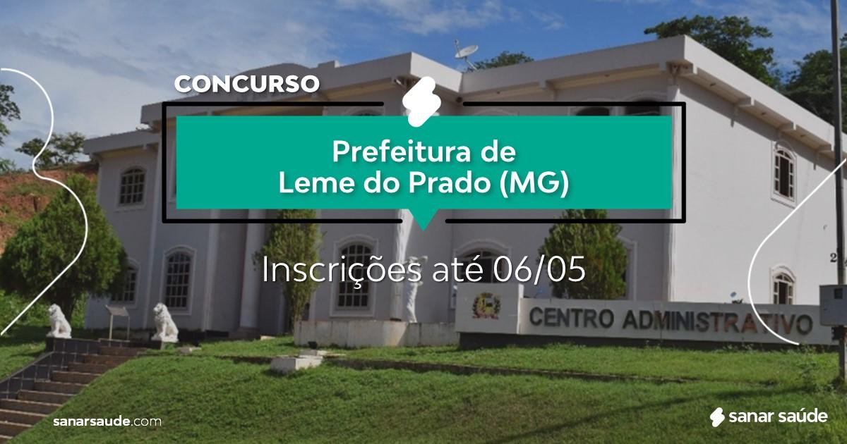 Concurso de Leme do Prado - MG:  salários até R$10 mil na Saúde!