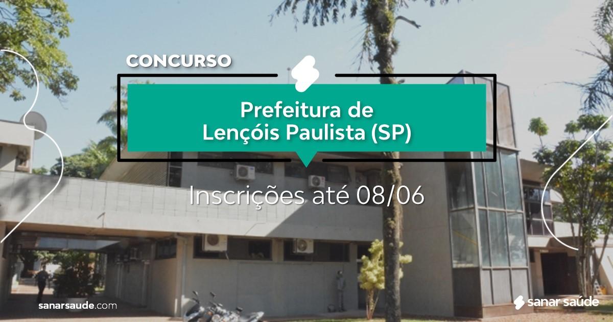 Concurso de Lençóis Paulista - SP: vagas na Saúde para médicos!