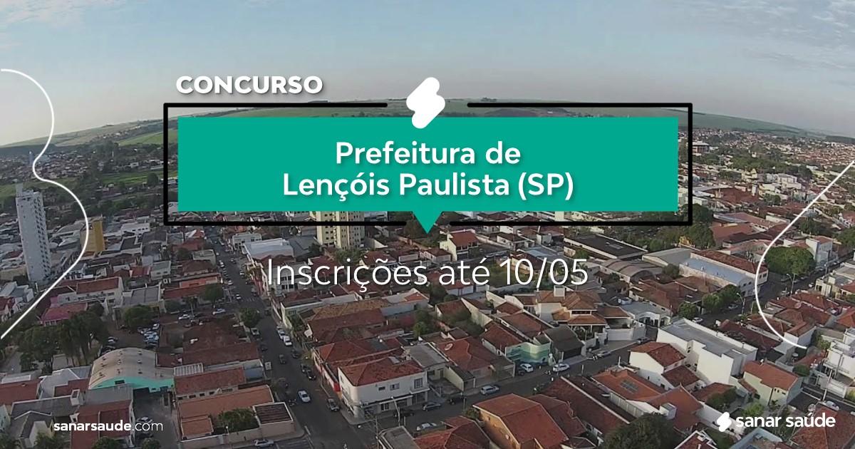 Concurso de Lençóis Paulista - SP:  salários na Saúde até R$16 mil!