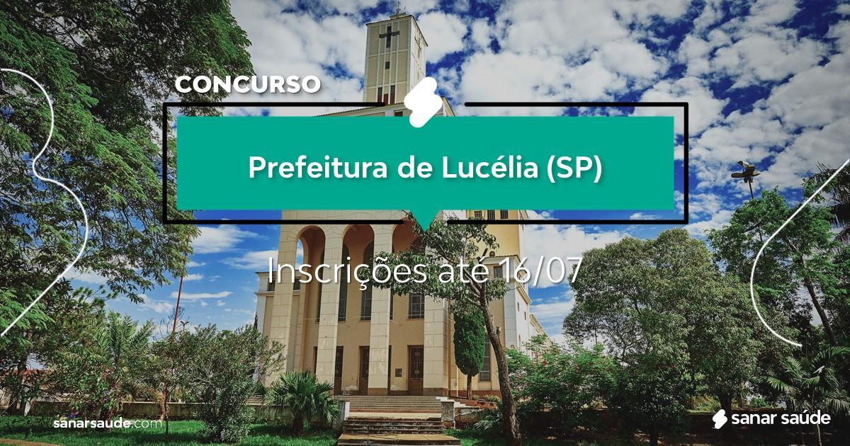 Concurso de Lucélia - SP: vagas imediatas na Saúde!