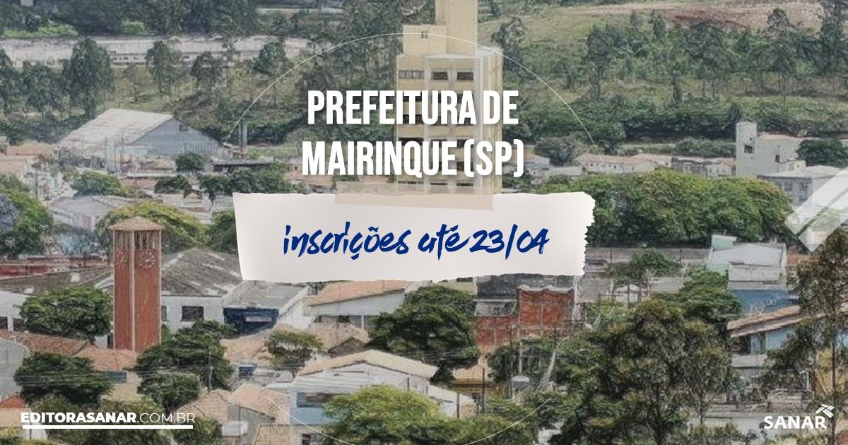 Concurso de Mairinque - SP: vagas imediatas na Saúde!
