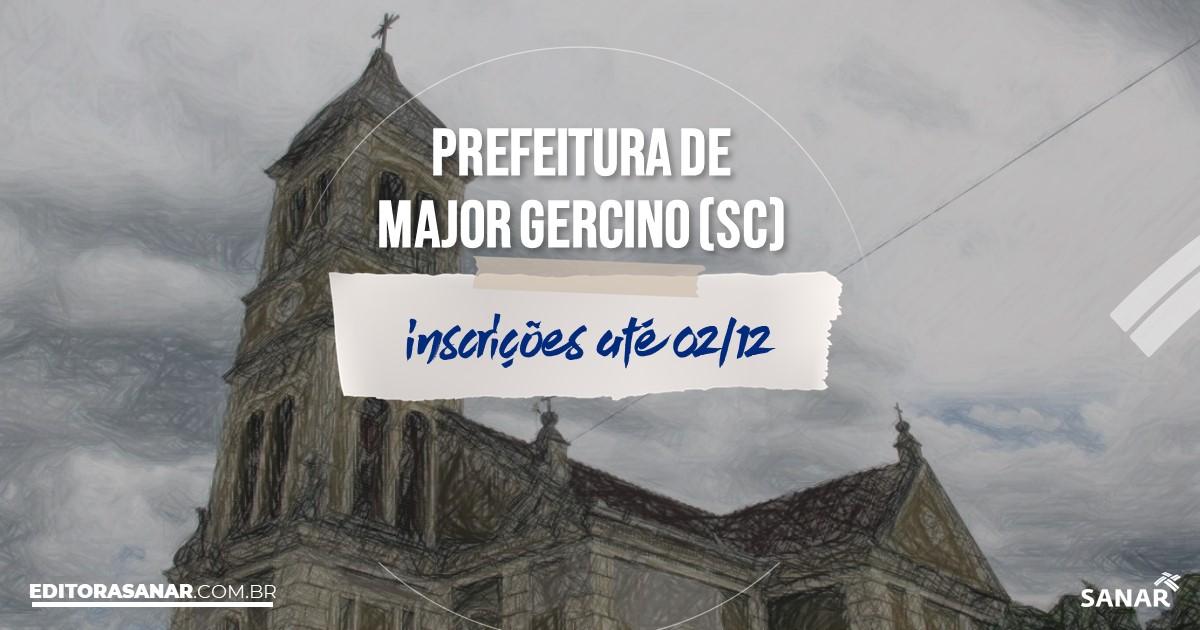 Concurso de Major Gercino - SC: salários de até R$9 mil na Saúde!