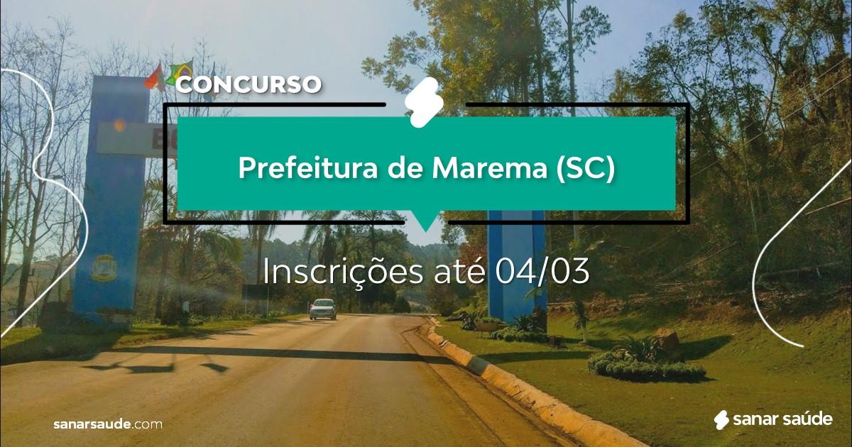 Concurso de Marema - SC: cargos na Saúde!