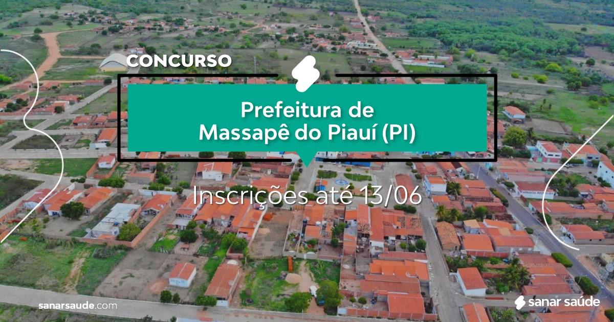 Concurso de Massapê do Piauí - PI: vagas na Saúde!