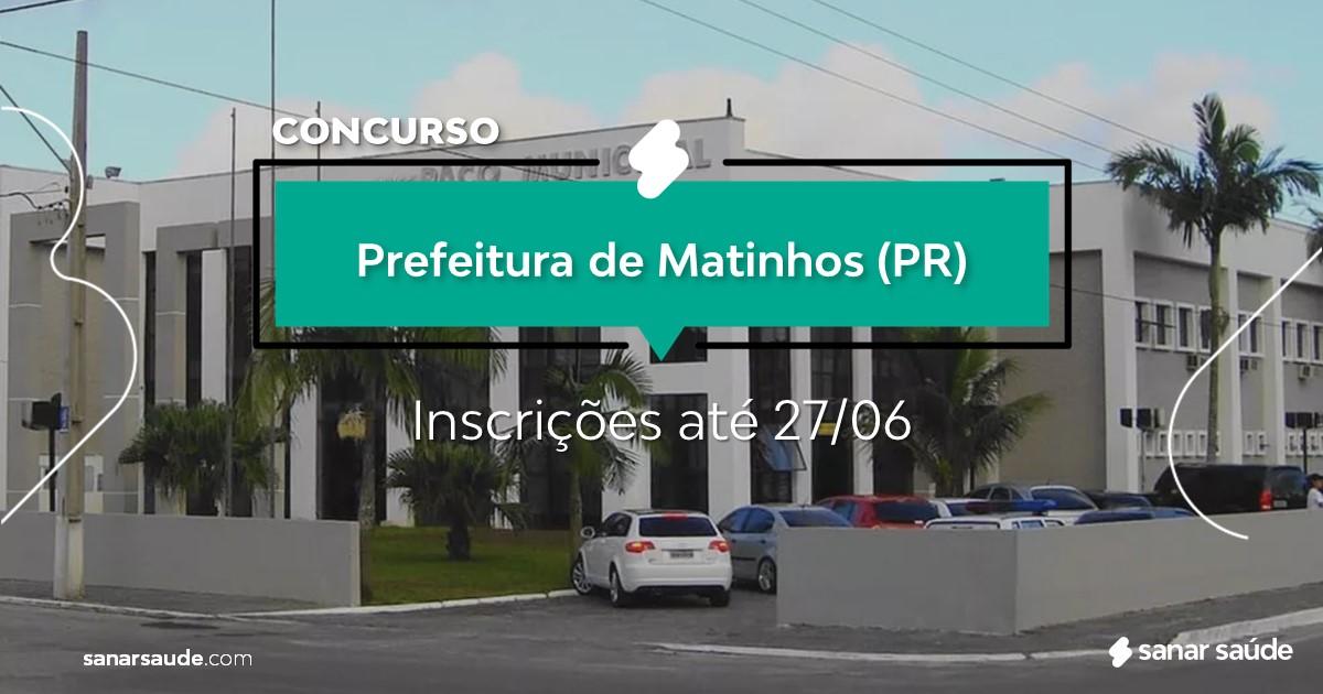 Concurso de Matinhos - PR: salários até R$15 mil na Saúde!