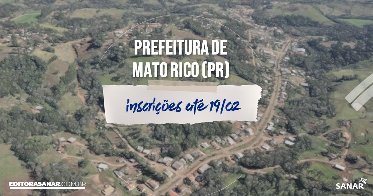 Concurso de Mato Rico - PR: salários de até R$11 mil na Saúde!