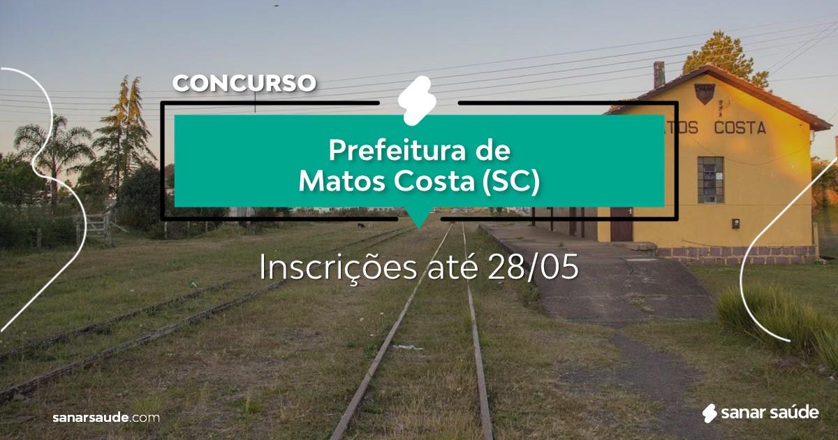 Concurso de Matos Costa - SC:  vagas na Saúde!