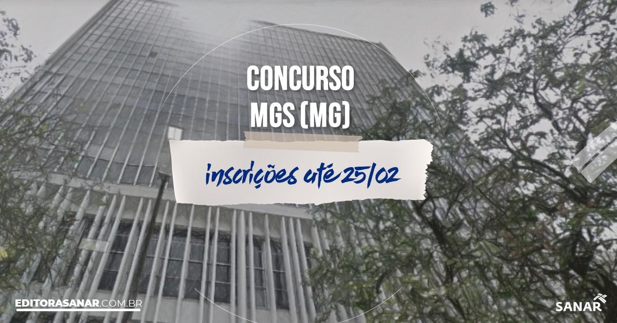 Concurso da MGS - MG: vagas na Saúde!