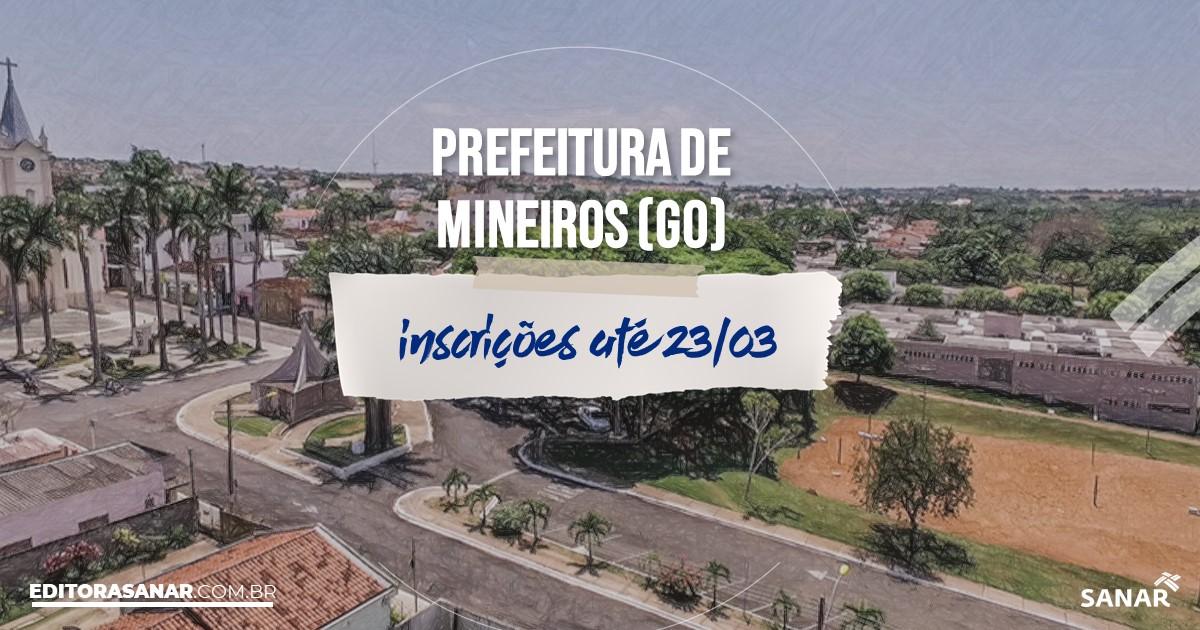 Concurso de Mineiros - GO: salários de até R$9,9 mil na Saúde!