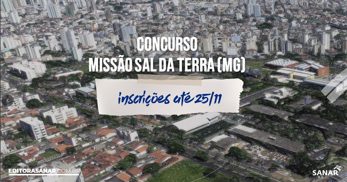 Concurso da Missão Sal da Terra - MG: cargos na Saúde!