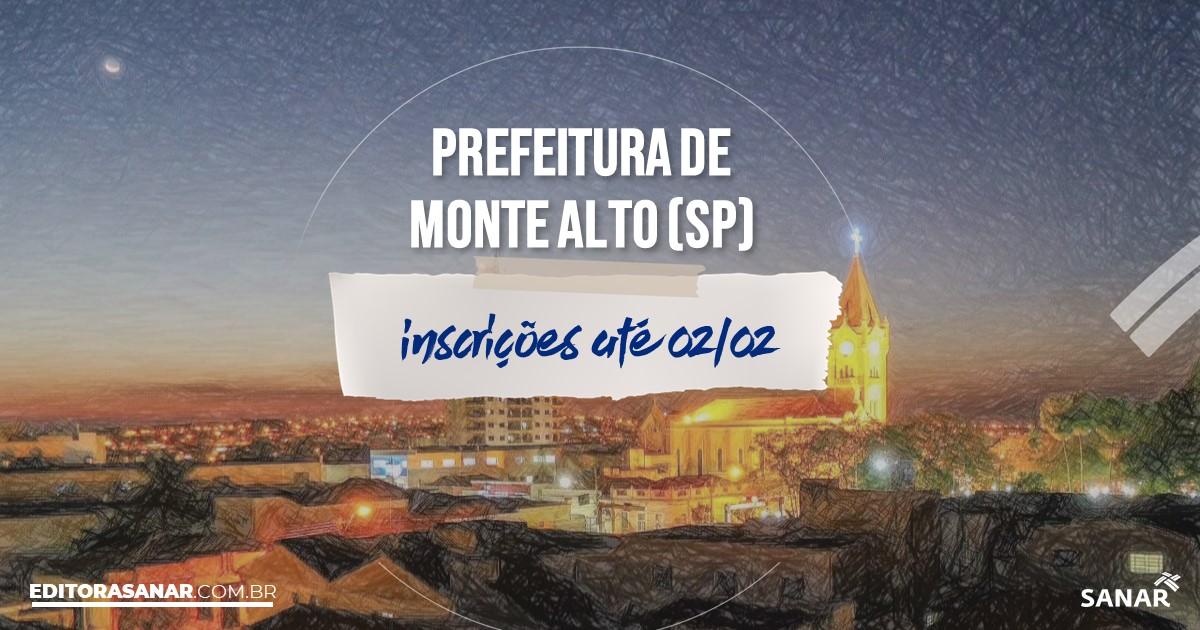 Concurso de Monte Alto - SP: salários de até R$9 mil na Saúde!