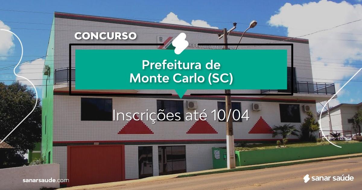 Concurso de Monte Carlo - SC: salários até R$16 mil na Saúde!