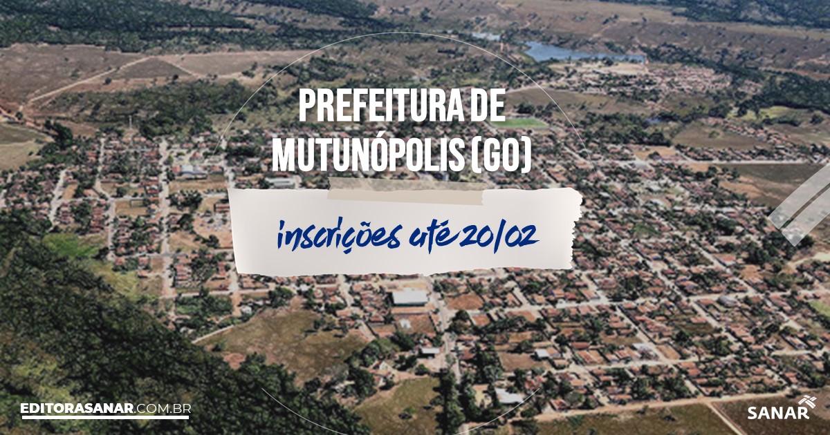 Concurso de Mutunópolis - GO: vagas na Saúde!