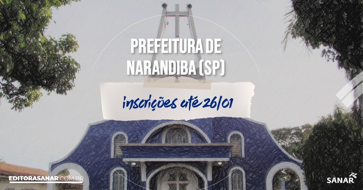 Concurso de Narandiba - SP: cargos na Saúde!
