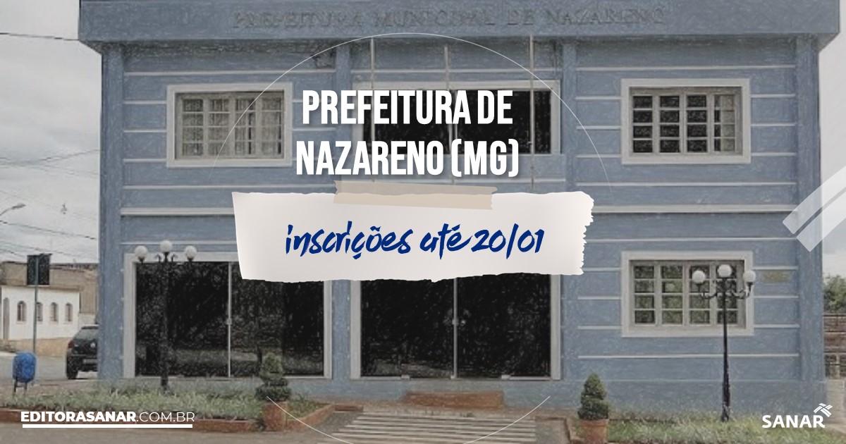 Concurso de Nazareno - MG: vagas imediatas na Saúde!