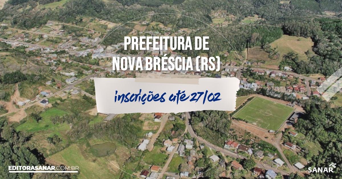Concurso de Nova Bréscia - RS: vagas imediatas na Saúde!