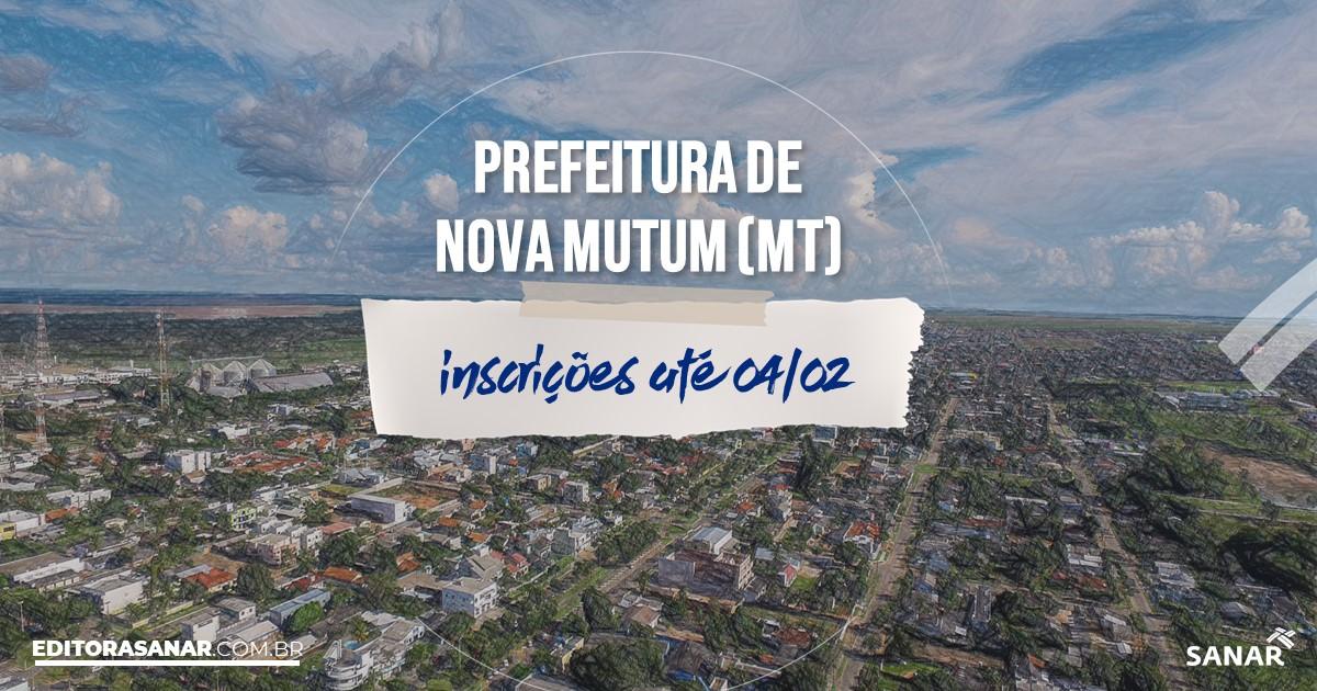 Concurso de Nova Mutum - MT: vagas na Saúde de até R$15 mil!
