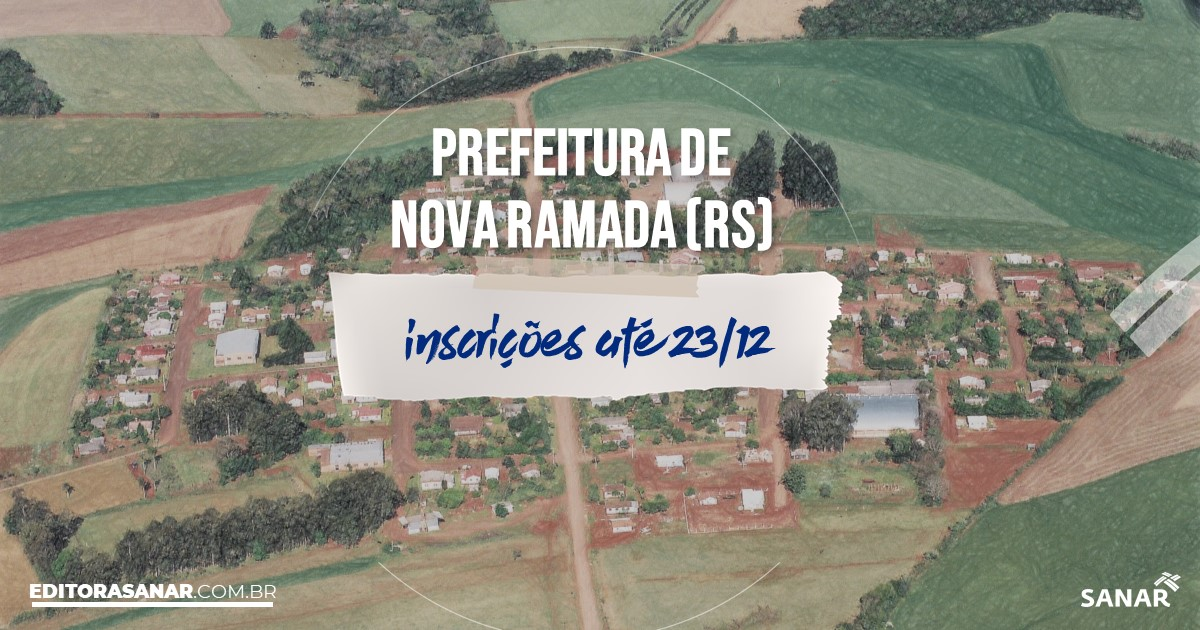 Concurso de Nova Ramada - RS: salários na Saúde de até R$10 mil!