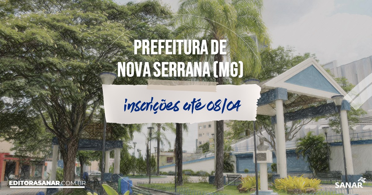Concurso de Nova Serrana - MG: na Saúde, vagas para psicólogos!