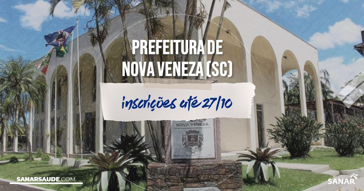 Concurso de Nova Veneza - SC: vagas na Saúde para veterinários!