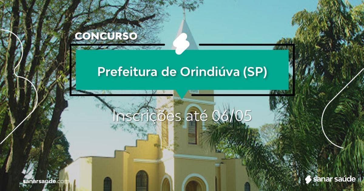 Concurso de Orindiúva - SP:  vagas na Saúde para médicos!