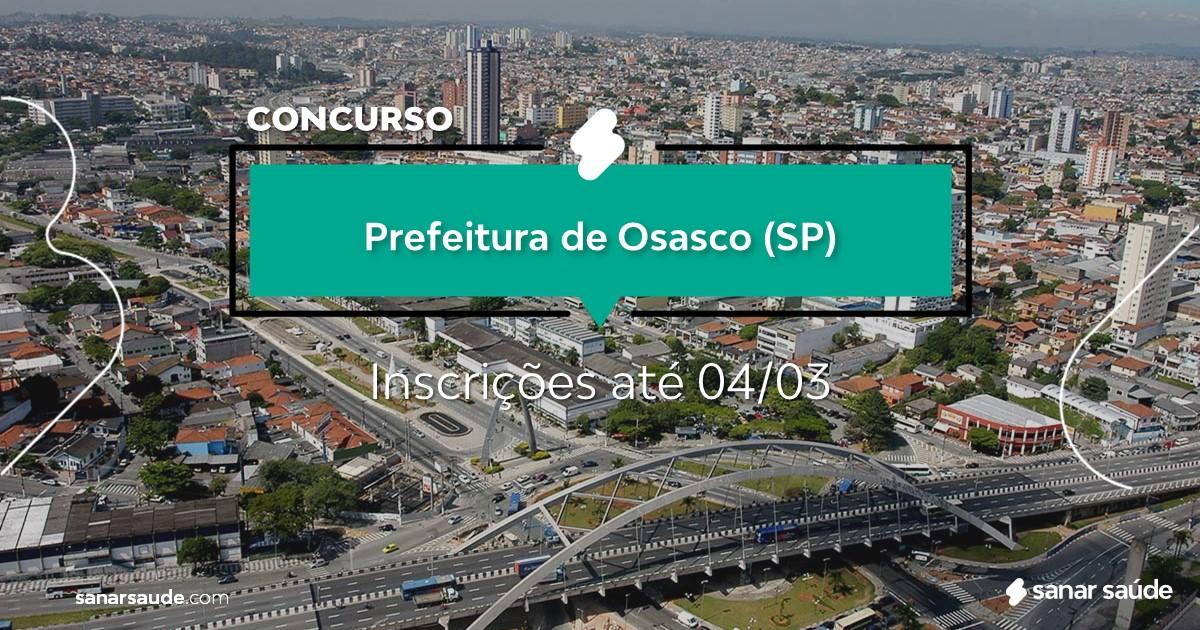 Concurso de Osasco - SP: vagas imediatas na Saúde!