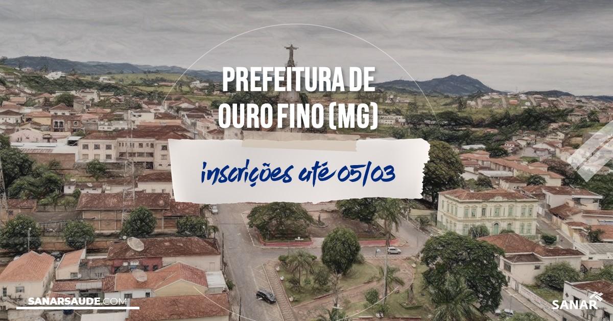 Concurso de Ouro Fino - MG: salários de até R$8 mil na Saúde!