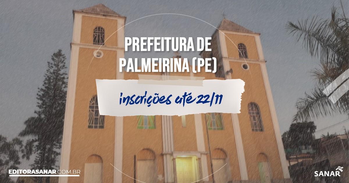 Concurso de Palmeirina - PE: cargos na Saúde!