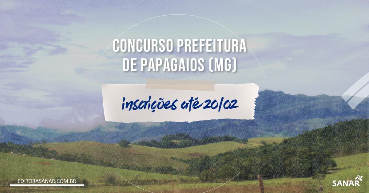 Concurso de Papagaios - MG: salários até R$13 mil na Saúde!