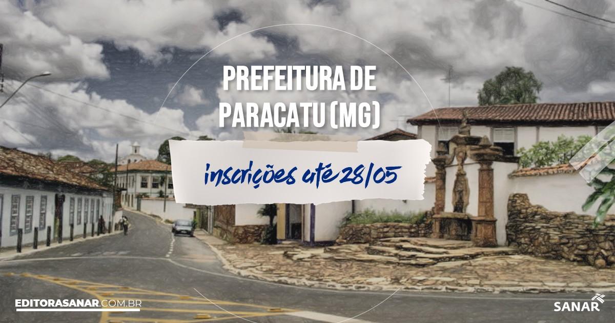 Concurso de Paracatu - MG: vagas na Saúde!