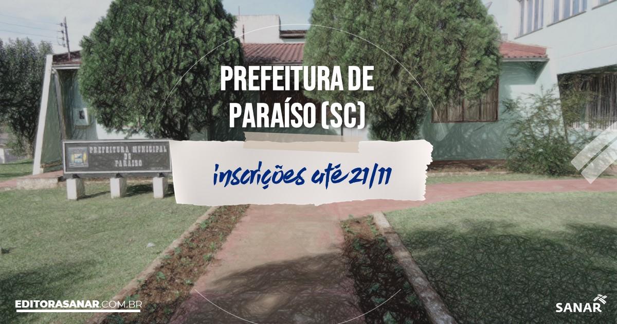 Concurso de Paraíso - SC: cargos na Saúde!